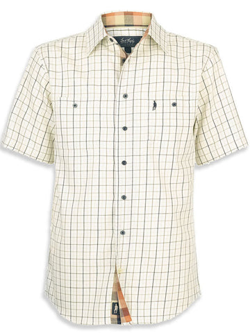 Jack Murphy MARK Short Sleeve Shirt in Tattersall Check