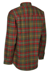 green and red tartan lumberjack shirt