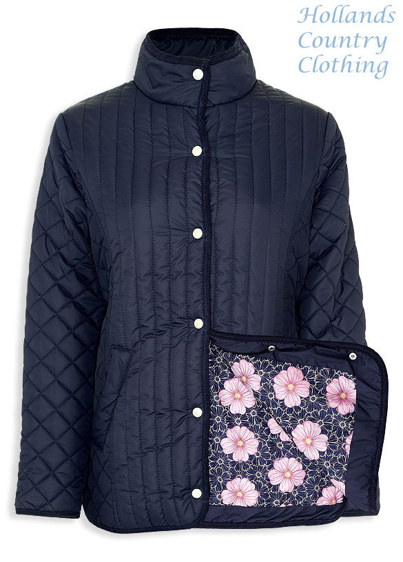 opens to show lining Merrivale Ladies Quilt Jacket from Champion