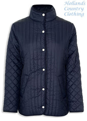 navy Merrivale Ladies Quilt Jacket