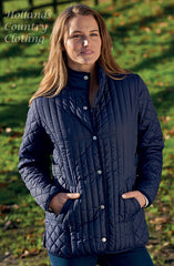 woman wearing Merrivale Ladies Quilt Jacket from Champion Country Estate