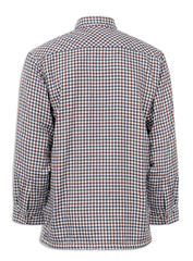 rear view Champion Country Check Fleece Lined Shirt