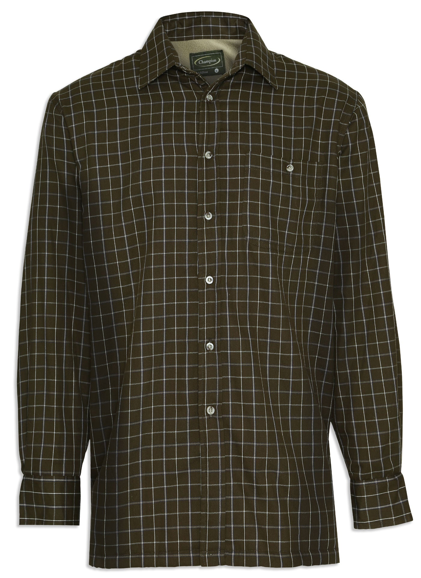 Champion Milton Micro Fleece Lined Shirt in green