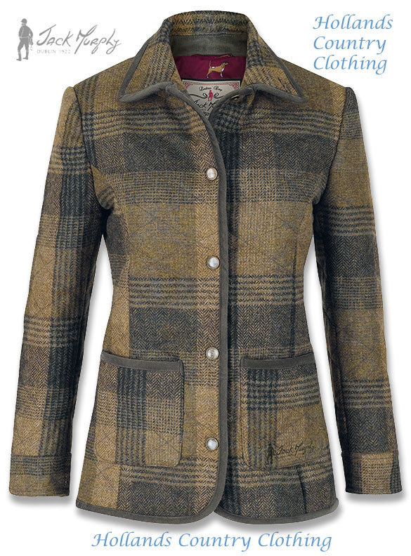Miranda Donadea Ladies  Quilted Tweed Jacket