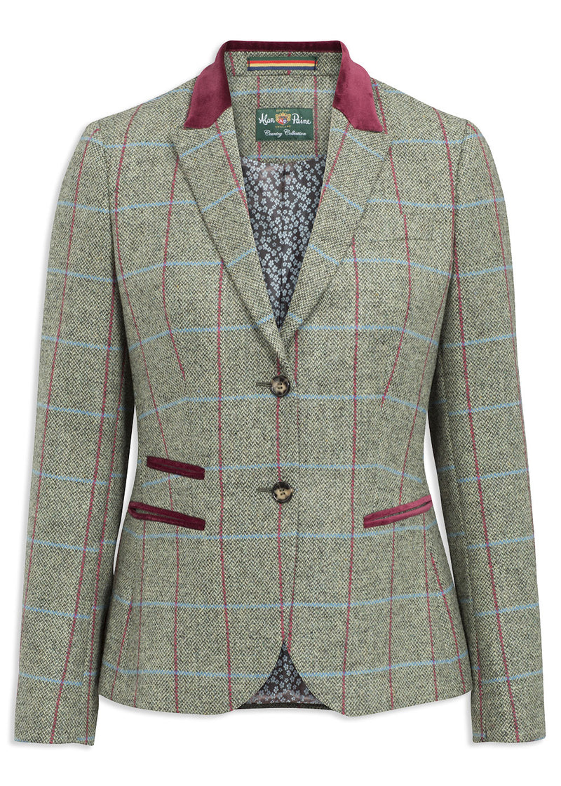 Alan Paine Surrey Ladies Short Blazer | Moss Green