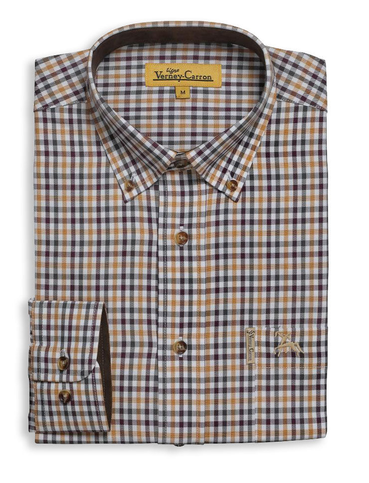 Verney Carron Cottage Check Shirt | Mustard Moutarde
