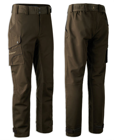 rear view Muflon Waterproof Trousers by Deerhunter in Art Green