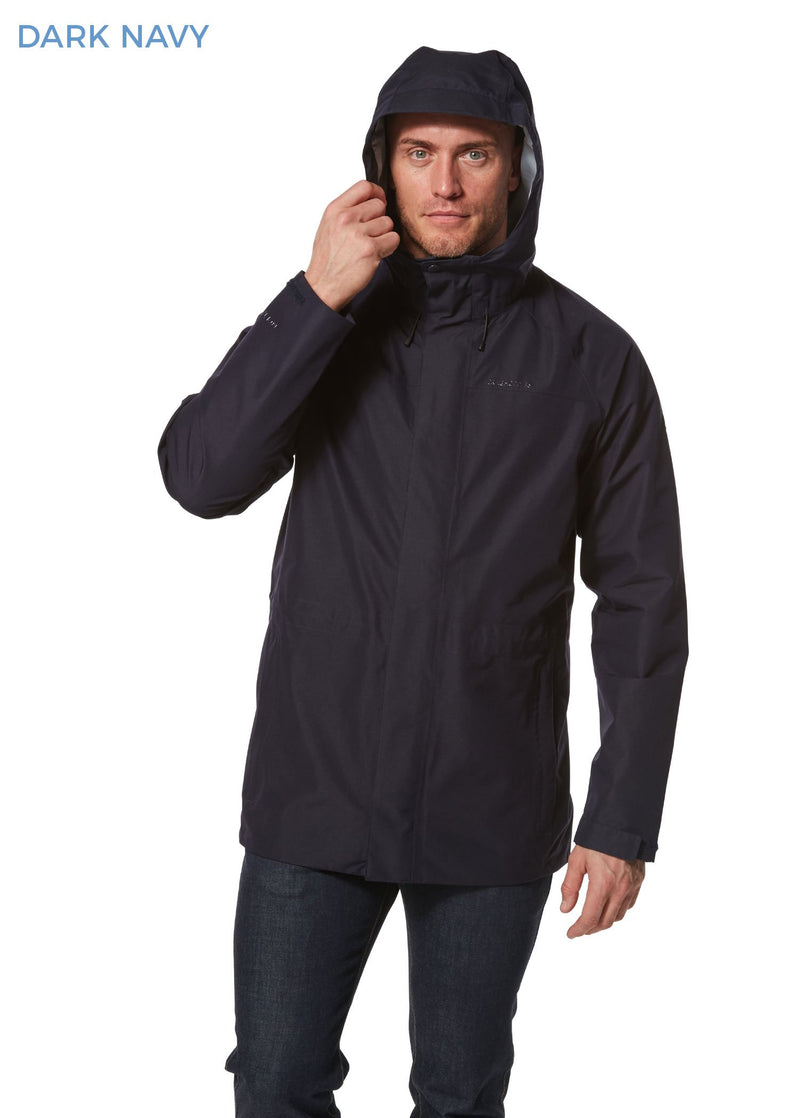 Hood up Corran Gore-Tex Waterproof Jacket by Craghoppers