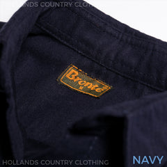 Navy Bronte Moleskin Country Shirt