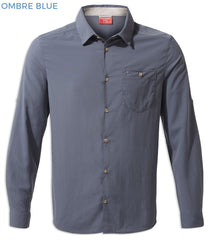 Craghoppers NosiLife Nuoro Long Sleeve Shirt | Ombre Blue