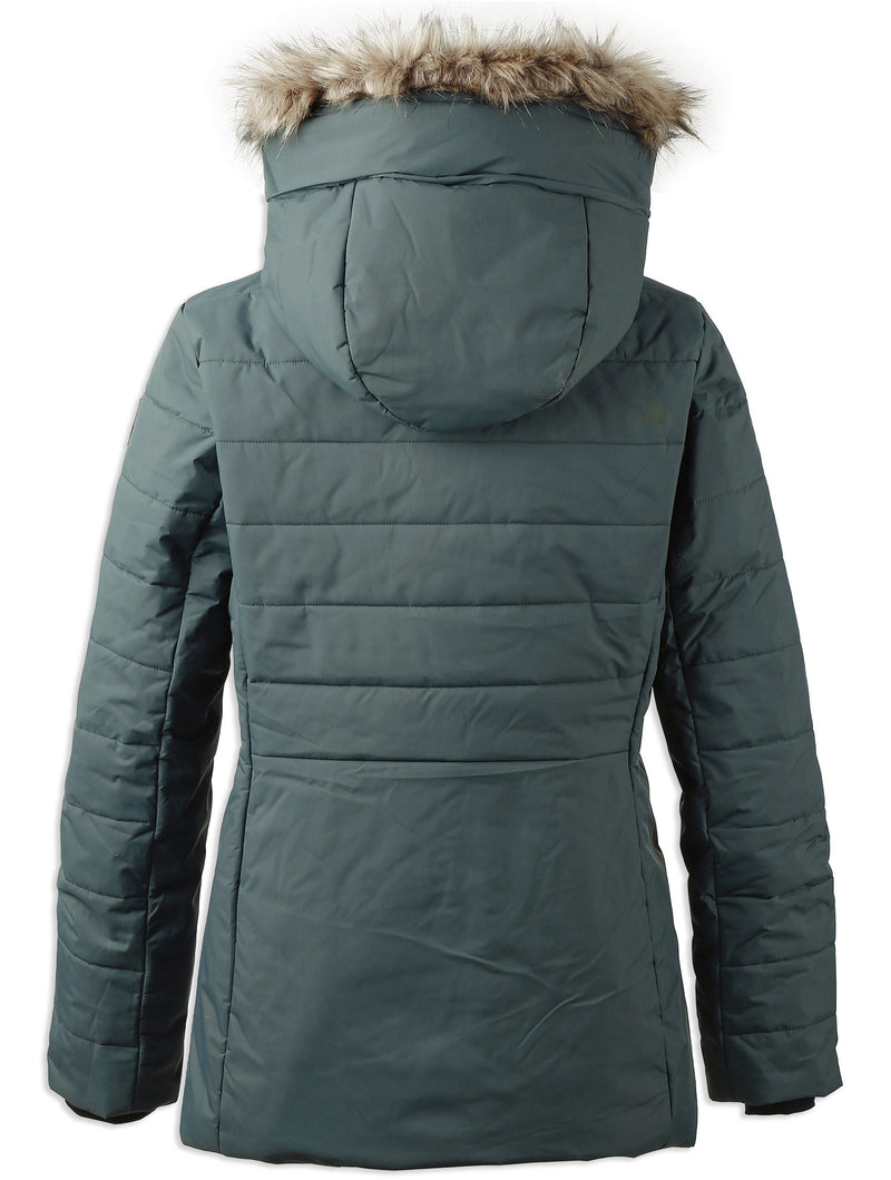 Rear view North sea green Didriksons Ladies Nana Quilted Jacket