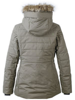 Rear view crocodile green Didriksons Ladies Nana Quilted Jacket