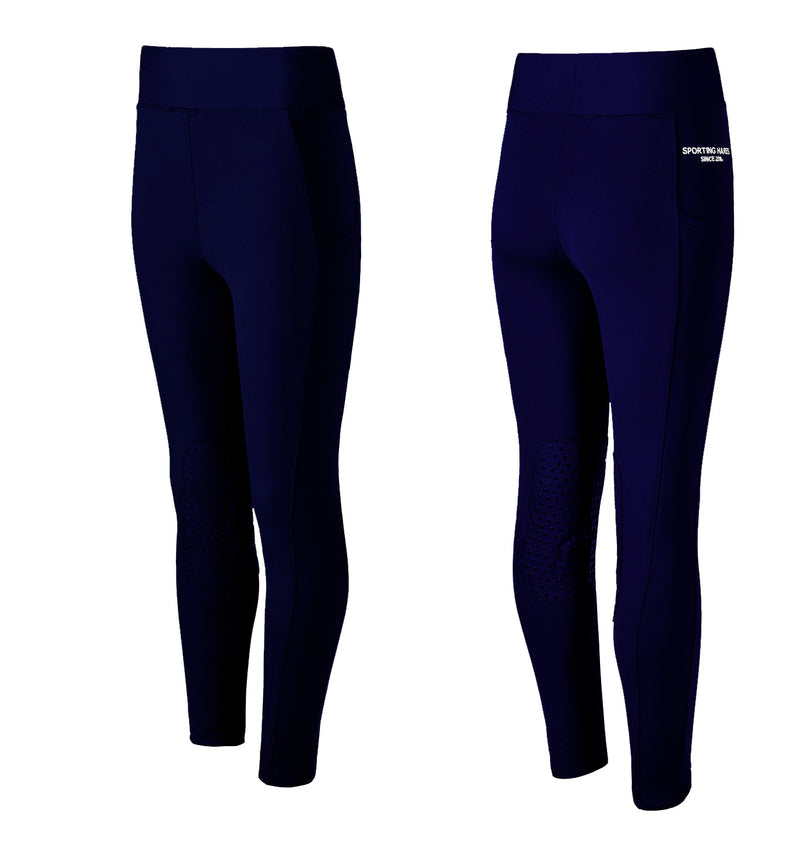 Navy Blue Sporting Hares Victorious Thermal Riding Leggings