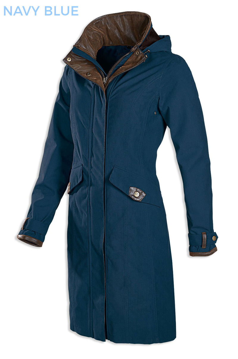 navy blue Chelsea 3/4 Length Waterproof Breathable Coat by Baleno
