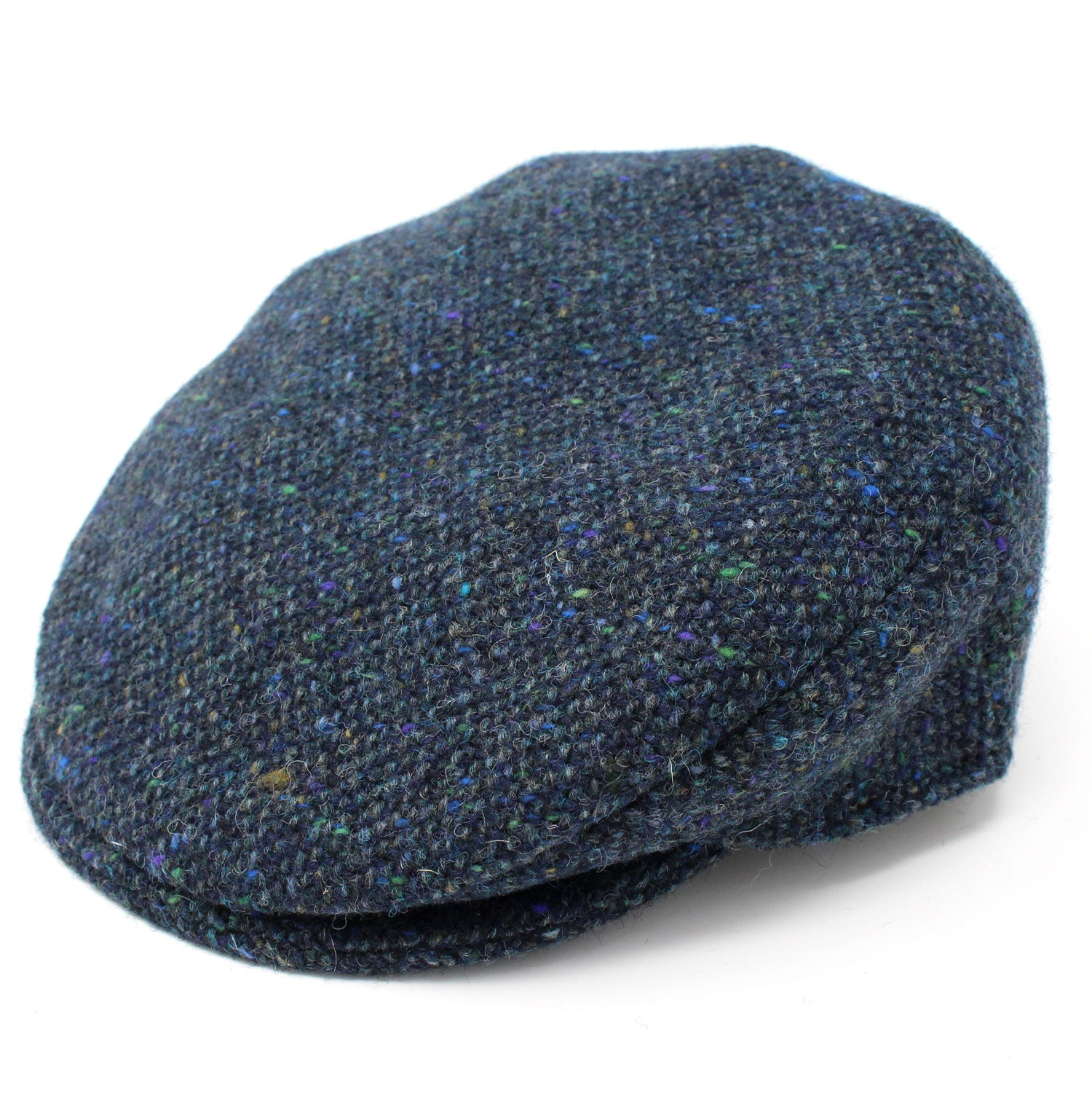 Hanna Children's Tweed Flat Cap | Navy Salt and Pepper