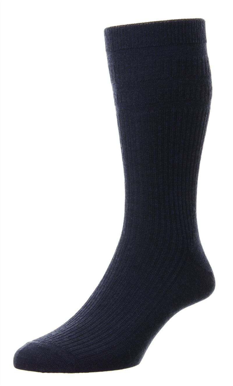 Navy Blue EXTRA WIDE - Softop® Socks Wool Rich