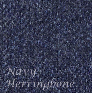 navy herringbone moon's tweed