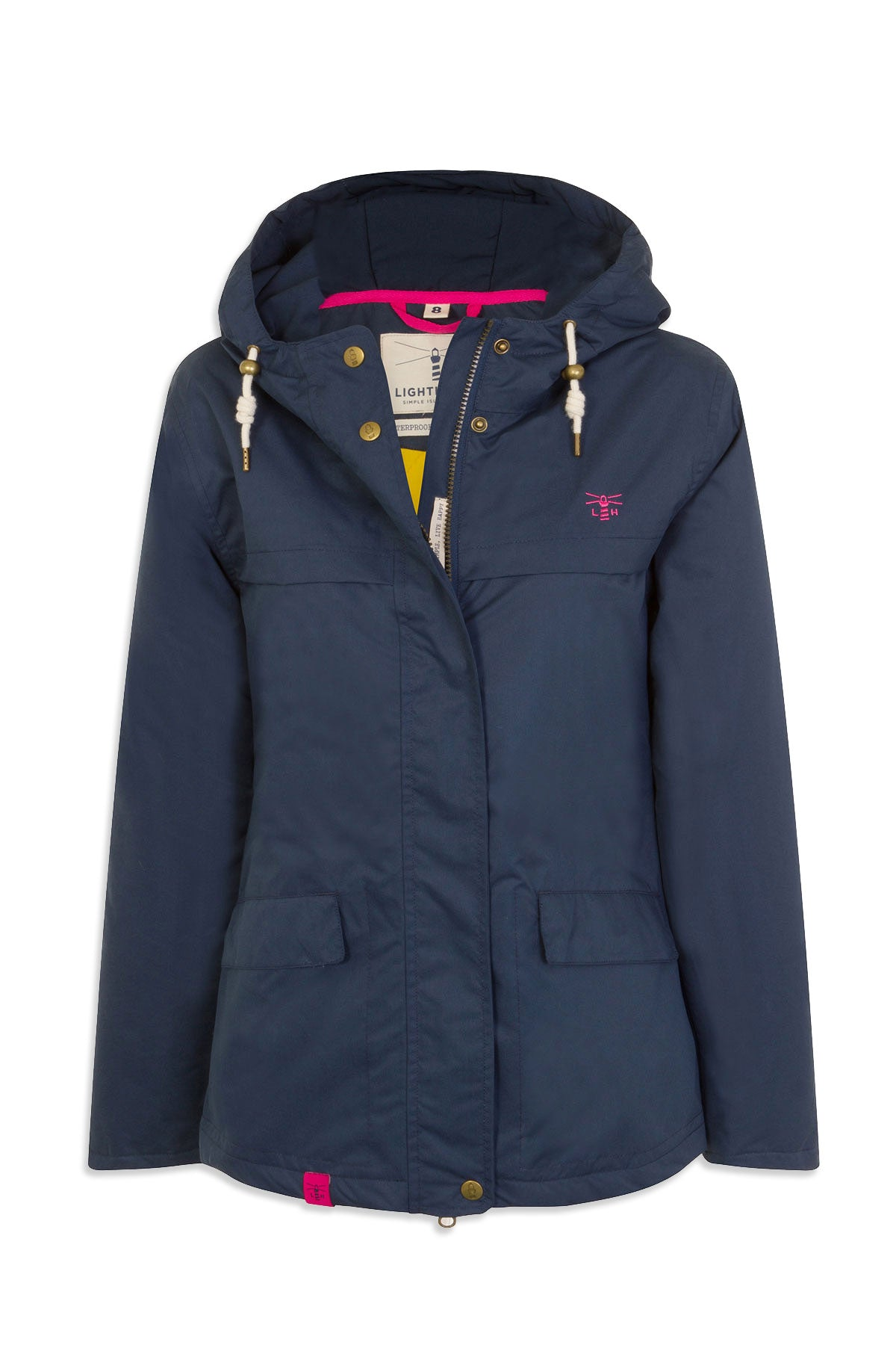midnight navy colour Beaufort Waterproof Jacket by Lighthouse
