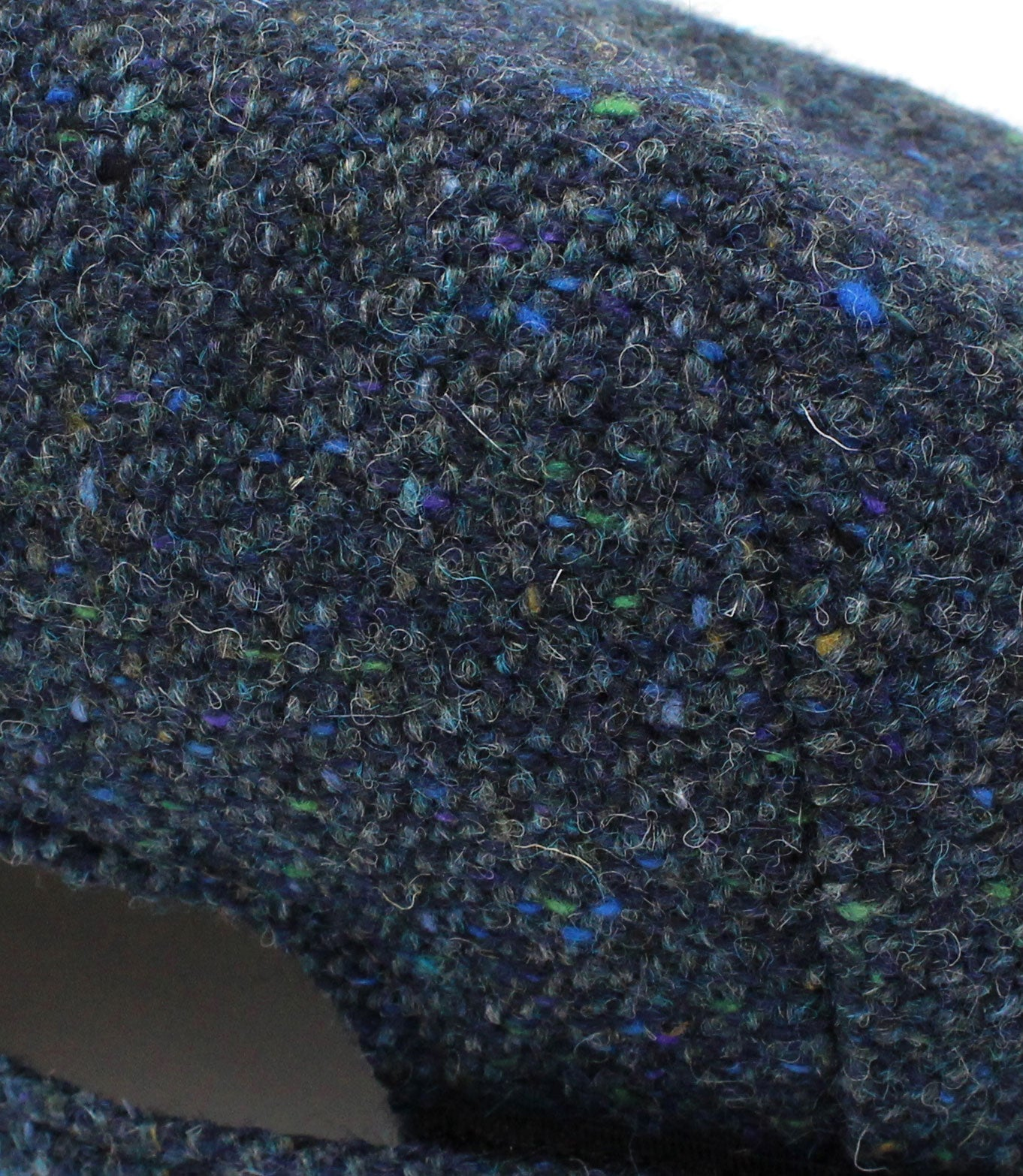 navy salt and peppet donnegal tweed swatch
