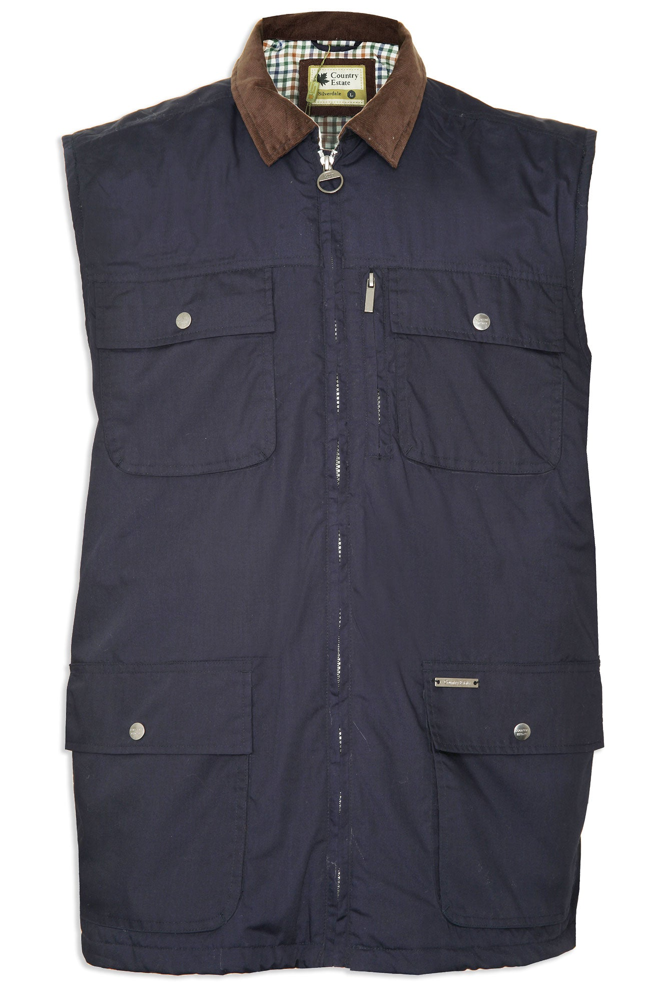 navy Silverdale Multi Pocket Waistcoat from Champion Outdoor