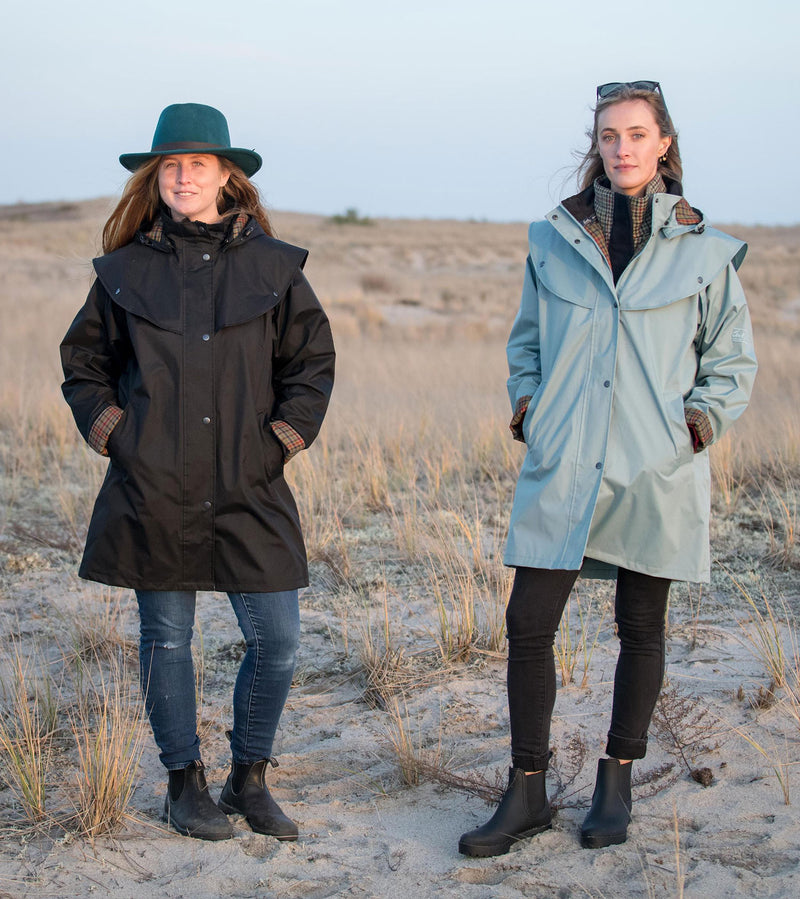 Smoke Blue and Black Jack Murphy Cotswold Ladies Waterproof  3/4 Coat