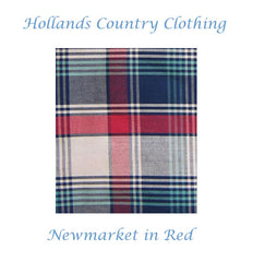newmarket in red pattern