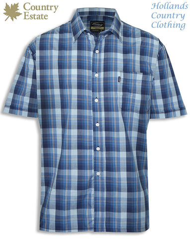 Champion Newmarket Short Sleeved Shirt in farmer's Blue