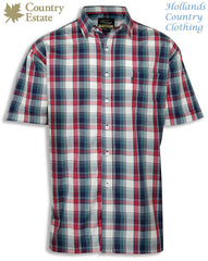 red and blue summer check shirt from champion outdoor