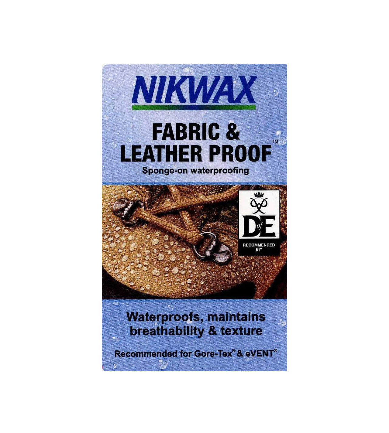 Nikwax Fabric & Leather Proof™ is easy and quick to apply; either spray or sponge on to wet boots.