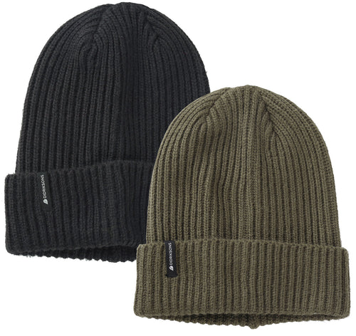 Didriksons Nils Beanie Hat in Black and Crocodile Green
