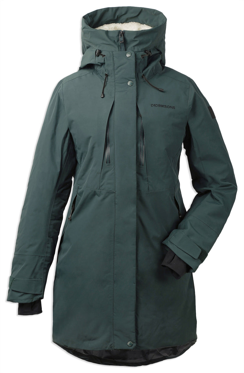 Front north sea green Didriksons Silje Padded Waterproof Parka