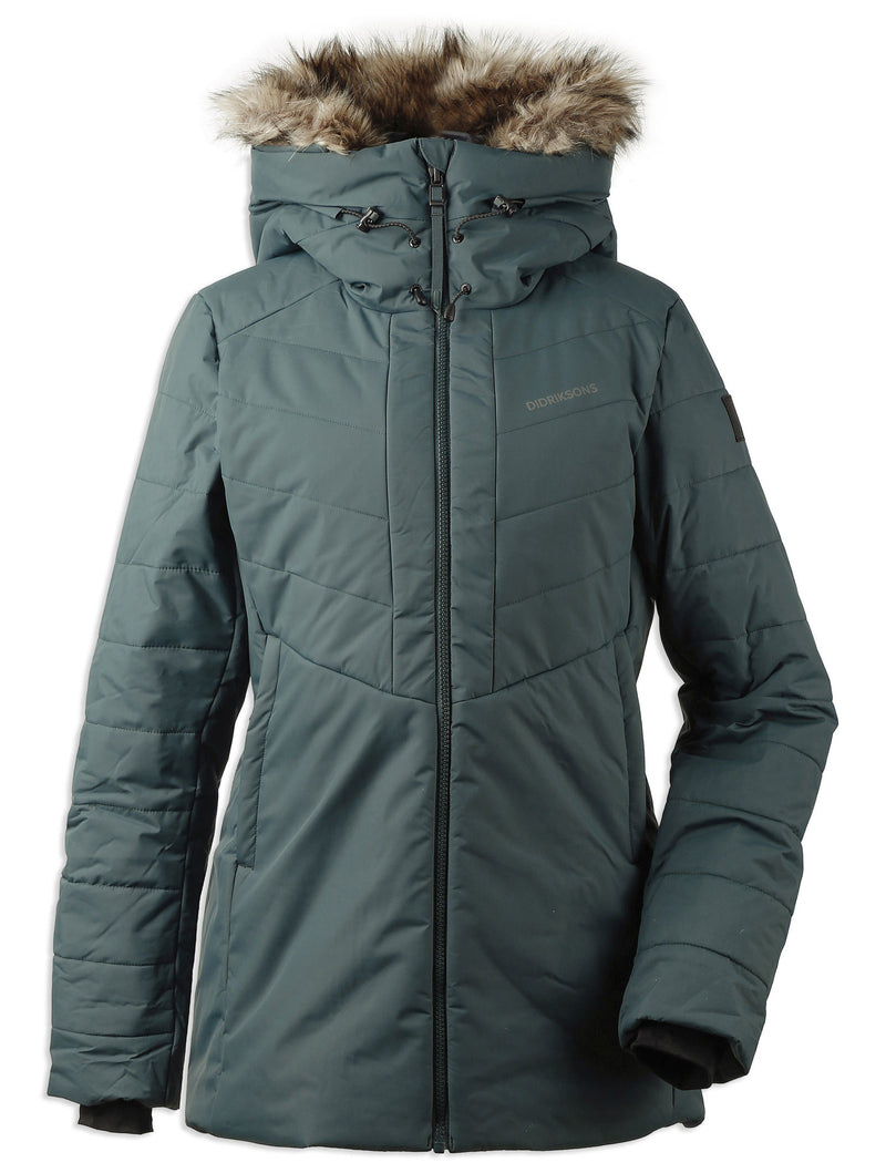 North sea Green Didriksons Ladies Nana Quilted Jacket