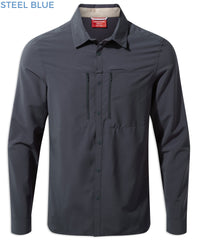 Blue Steel Craghoppers NosiLife PRO Long Sleeve Shirt