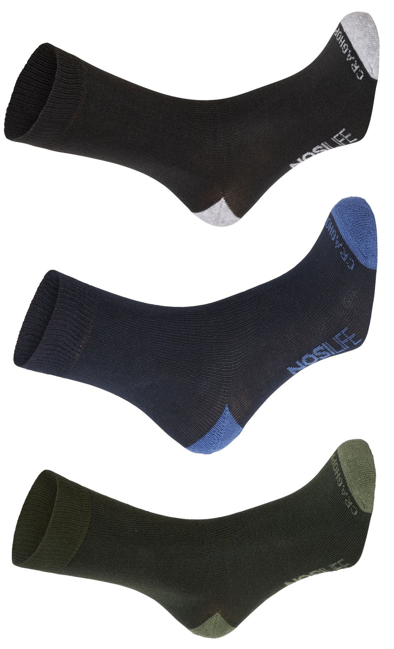 Craghoppers NosiLife Travel Socks | Charcoal, Navy, Parka Green