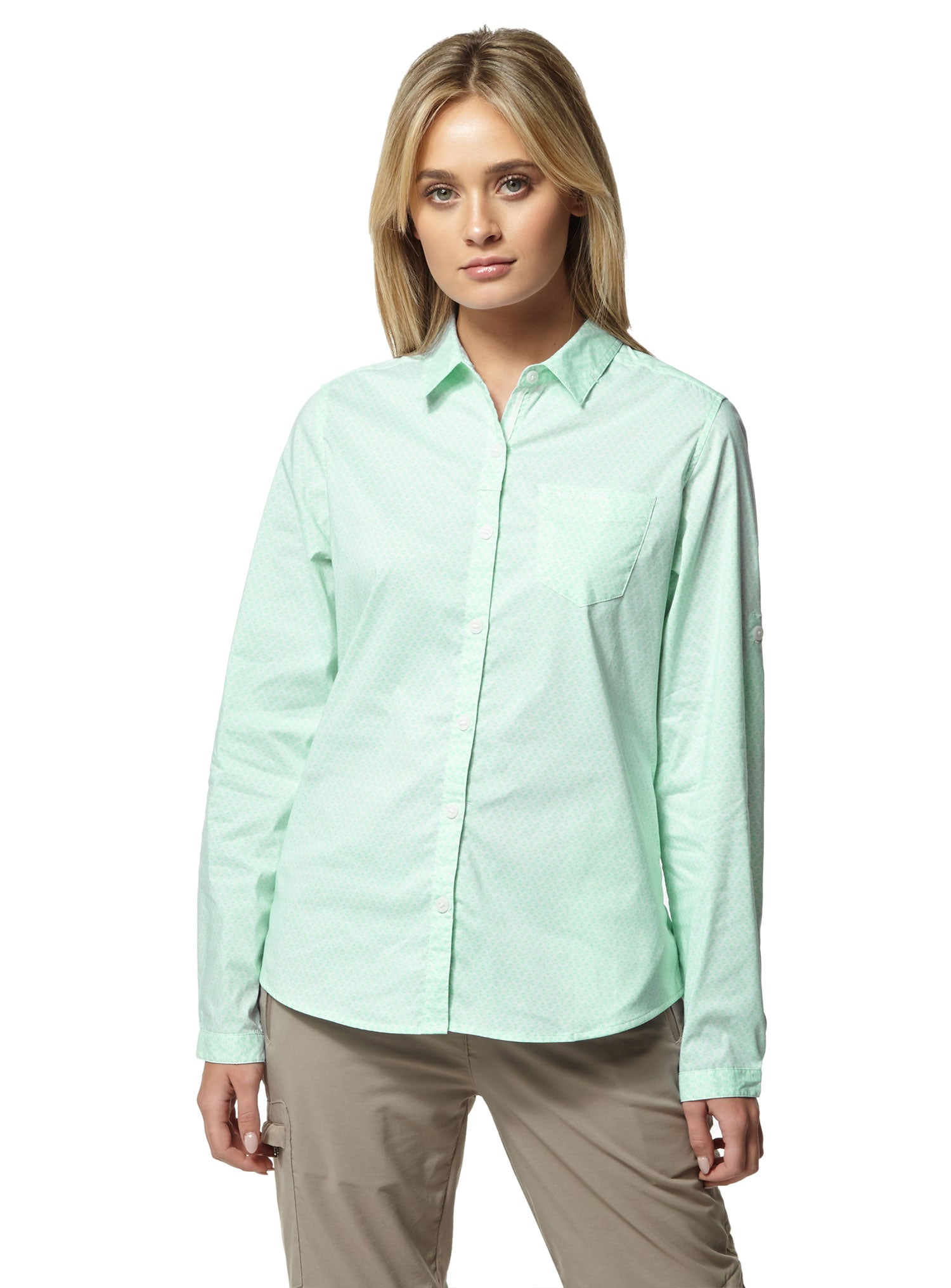 Capri Blue Craghoppers NosiLife Verona Long Sleeve Shirt
