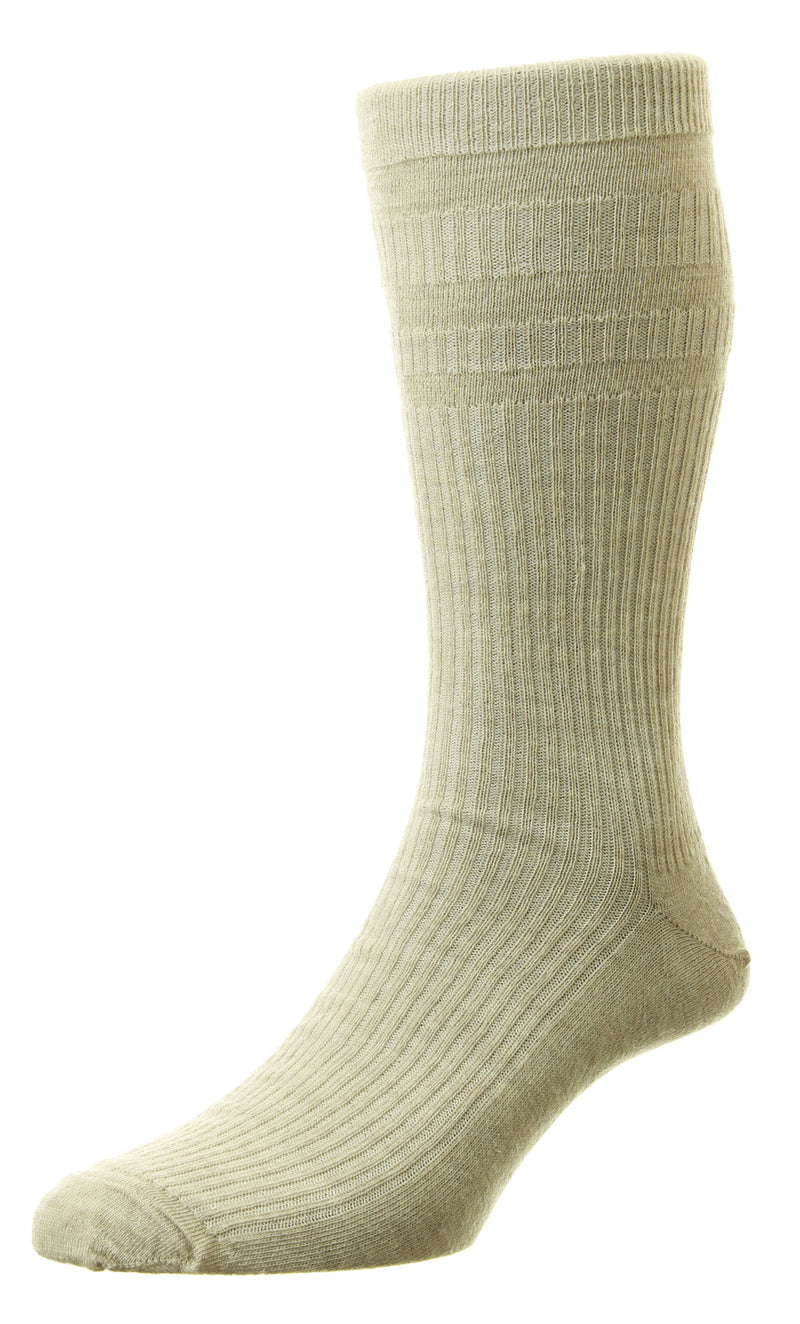 Oatmeal beige EXTRA WIDE - Softop® Socks Wool Rich