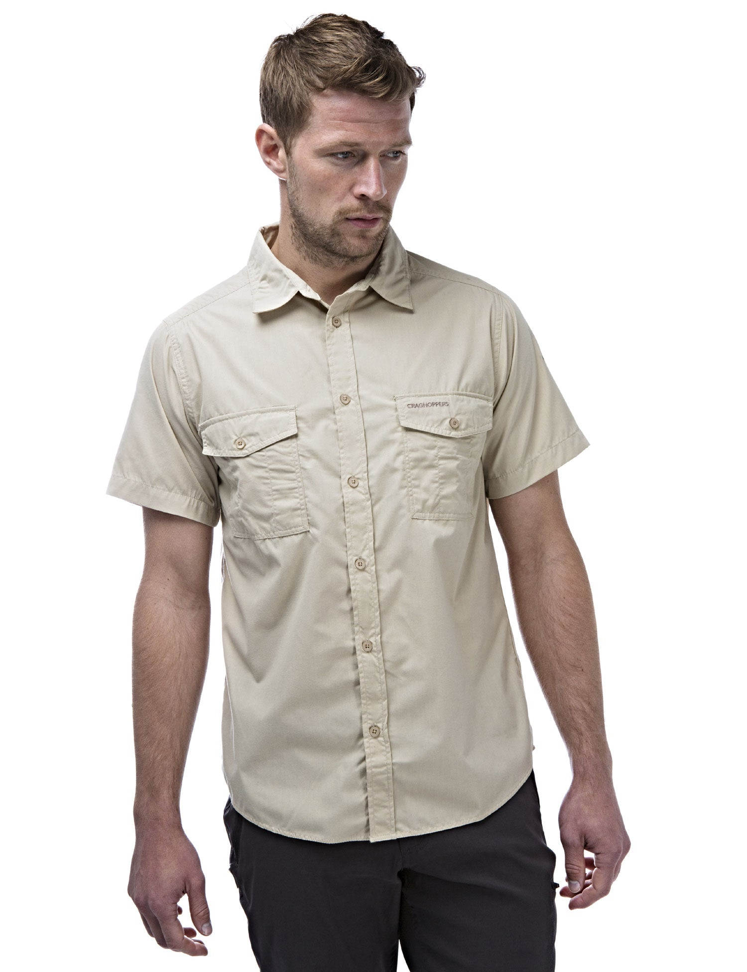 Man wearing Kiwi Short Sleeve Shirt by Craghoppers