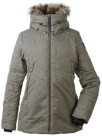 Crocodile Green Didriksons Ladies Nana Quilted Jacket