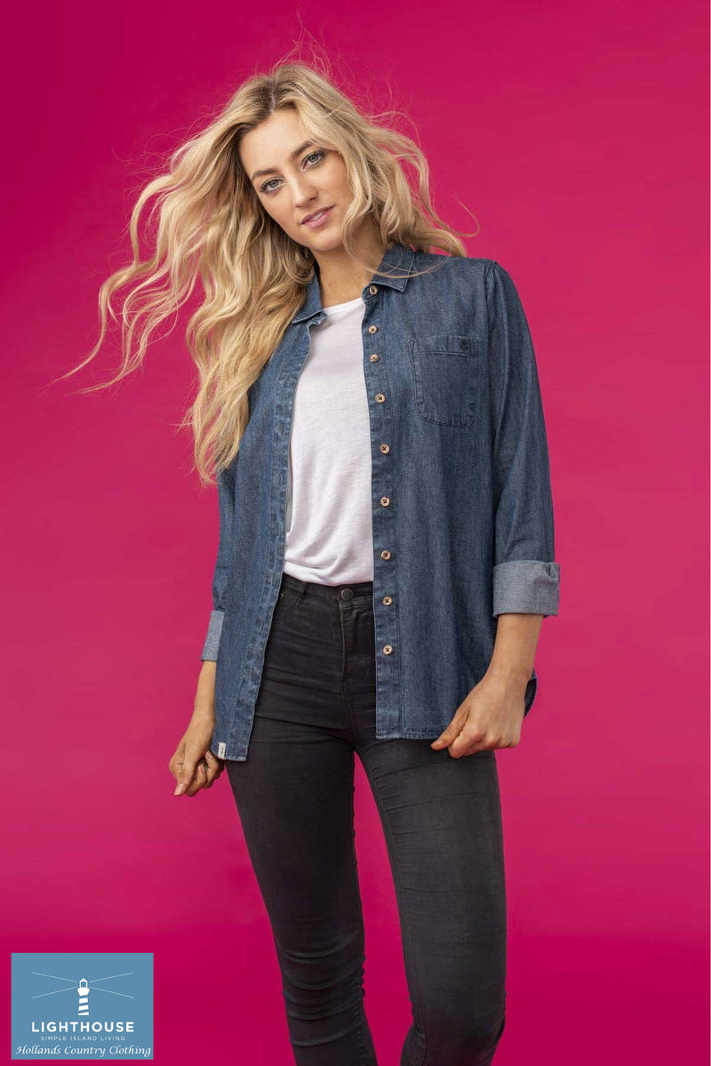 woman's denim work shirt