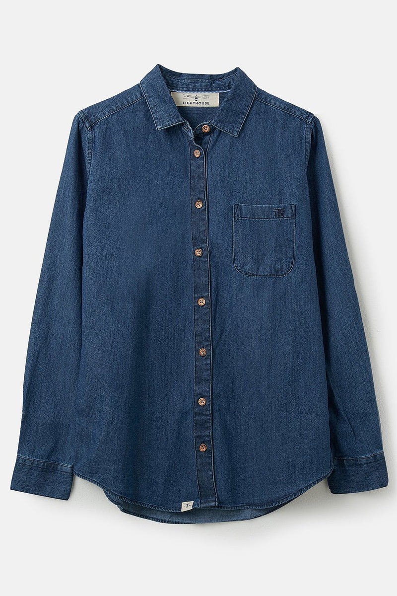 Lighthouse Ocean Shirt | Washed Denim