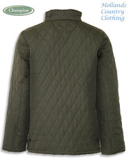 back view of Champion Penrith Men's Diamond Quilted Jacket