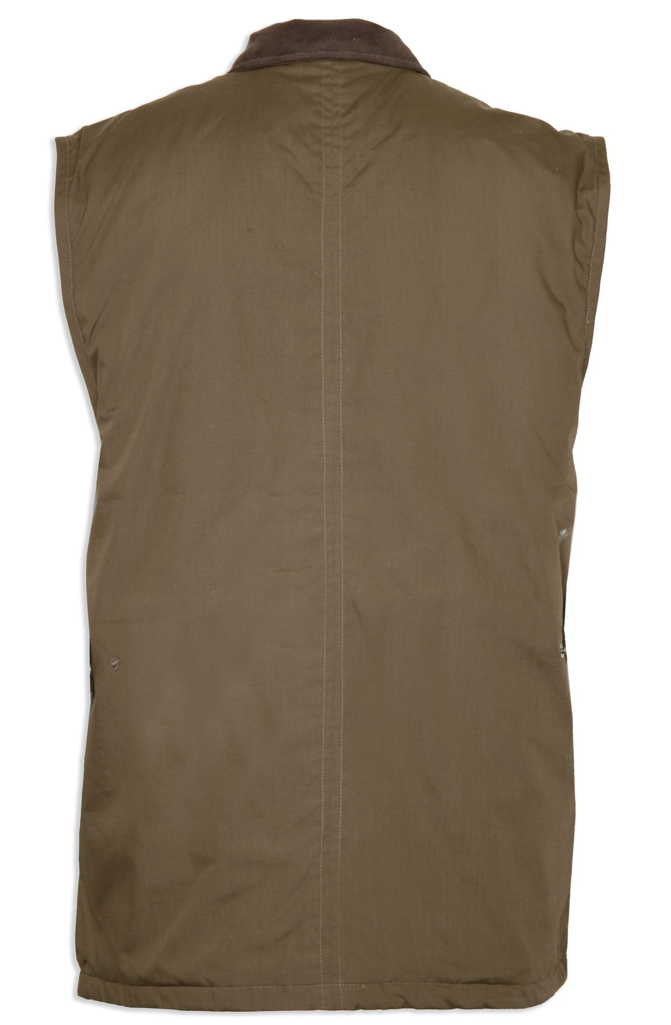 back view olive Silverdale Multi Pocket Waistcoat from Champion Outdoor