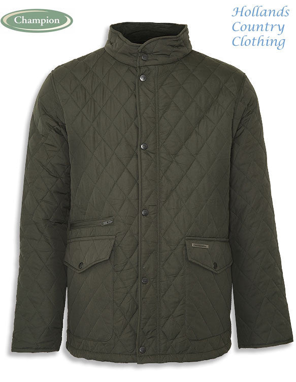 olive Champion Penrith Men's Diamond Quilted Jacket