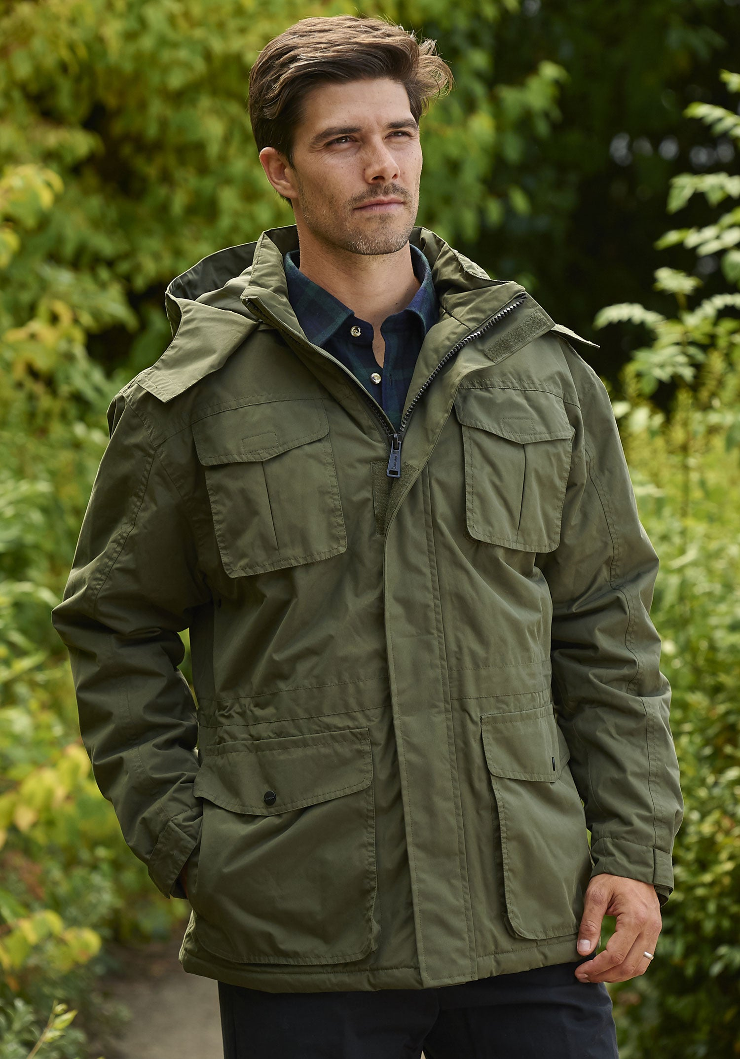 man wearing Champion Moorland Waterproof Jacket