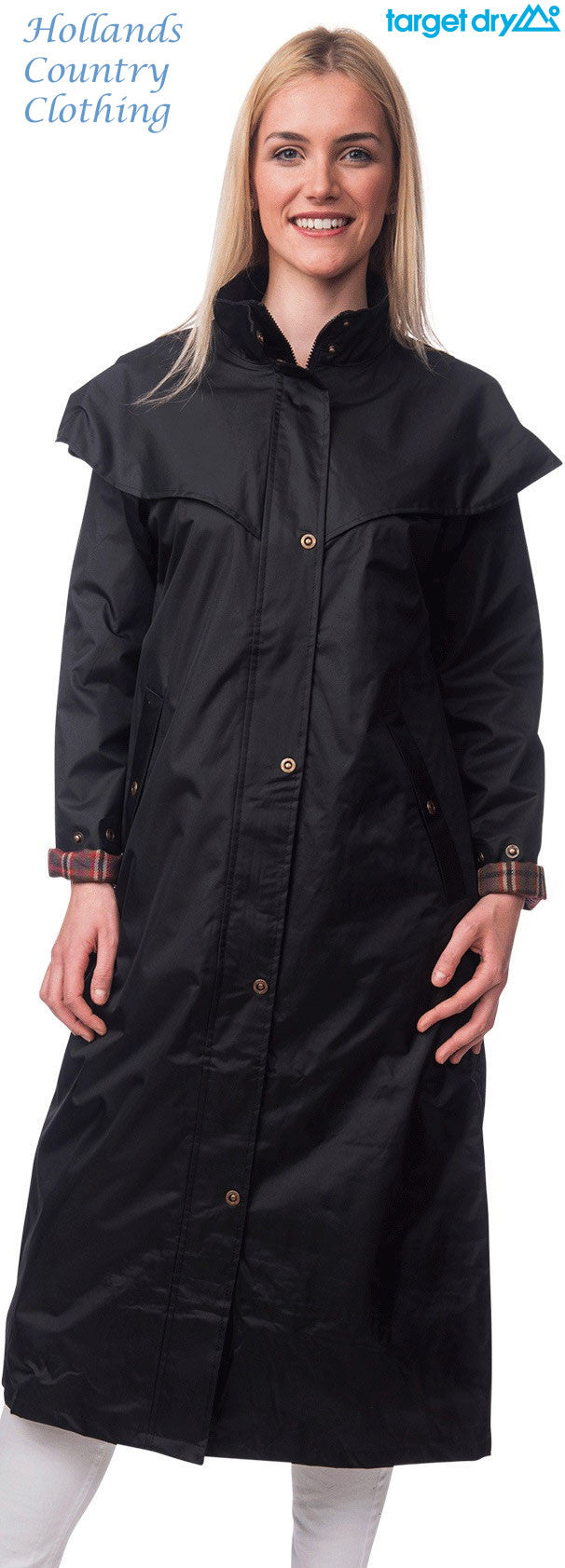 Target Dry Outback 2 Full Length Long Waterproof Coat. Black