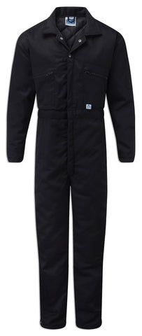 Blue Castle Quilted lining Padded overall Boilersuit in navy