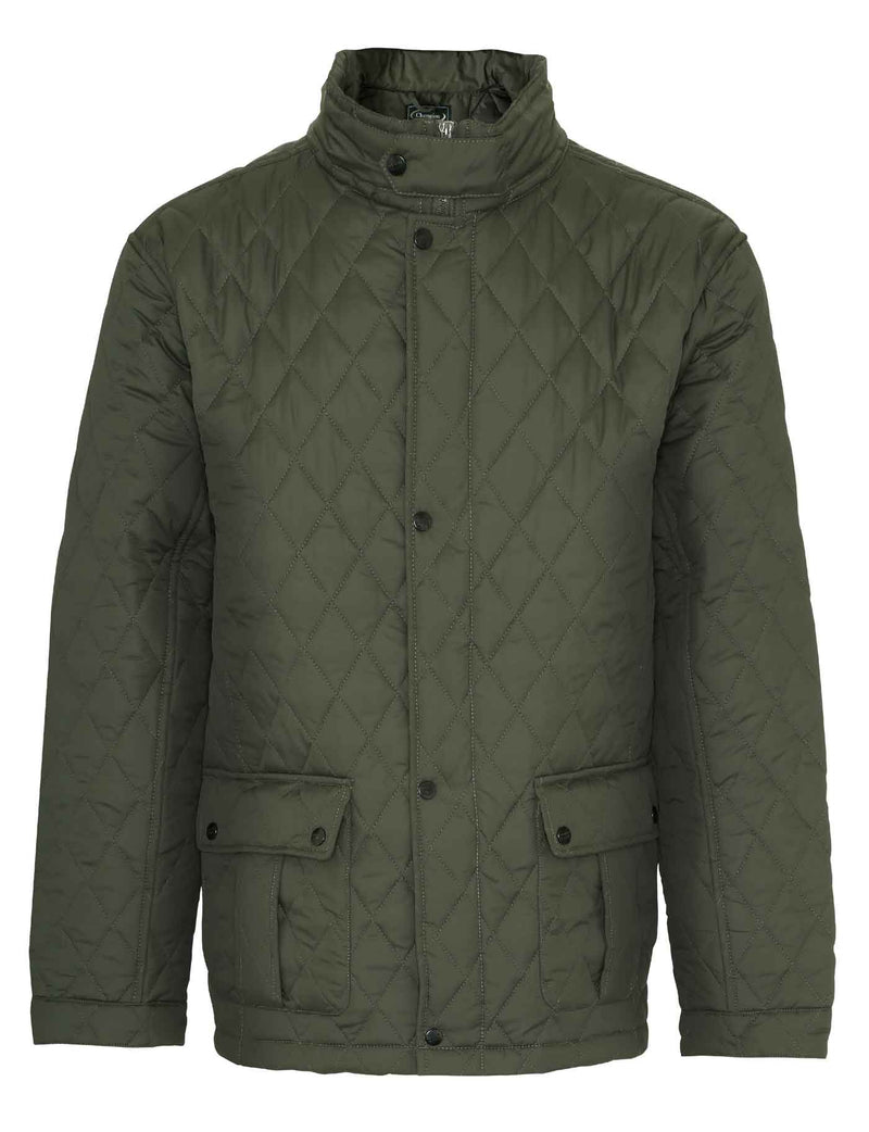 Olive Champion Padstow Diamond Quilted Jacket