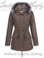 Jack Murphy Paloma Winter Parka Coat in weather for ducks with wax cotton sleeves