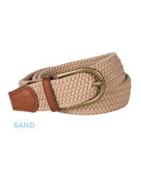 sand Pascal Woven Stretch Polo Belt by Baleno