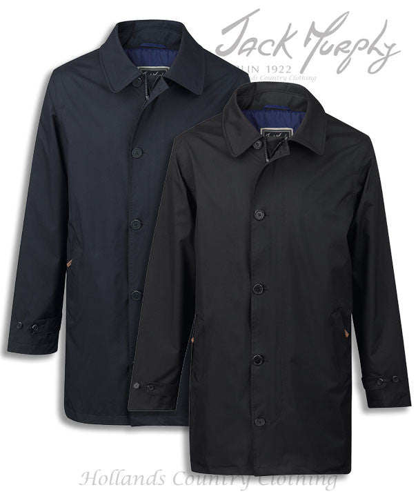 Jack Murphy Patrick Men's Waterproof Mac in black and navy